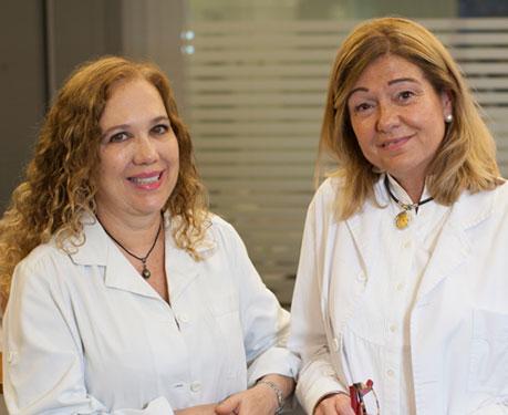 Dra. Conxita Beltran y Dra. Marta Arasa