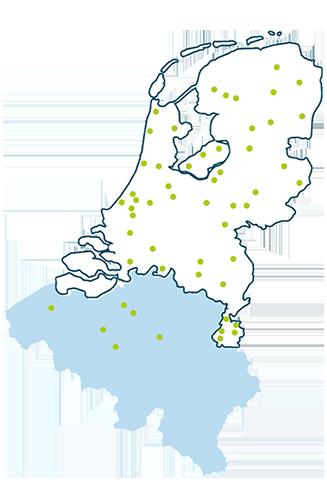 Cure4Life vestigingen in Nederland en Belgie